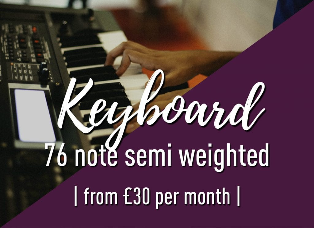 76 note semi-weighted keyboard
